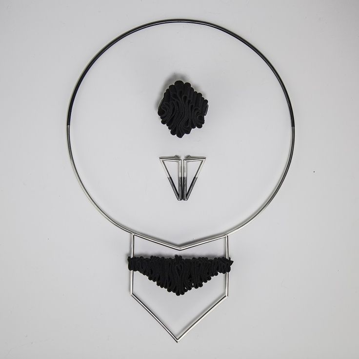 Silver and leather jewelry set