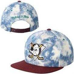 Anaheim Ducks Mitchell & Ness 2-Tone Denim Snapback Adjustable Hat - Blue