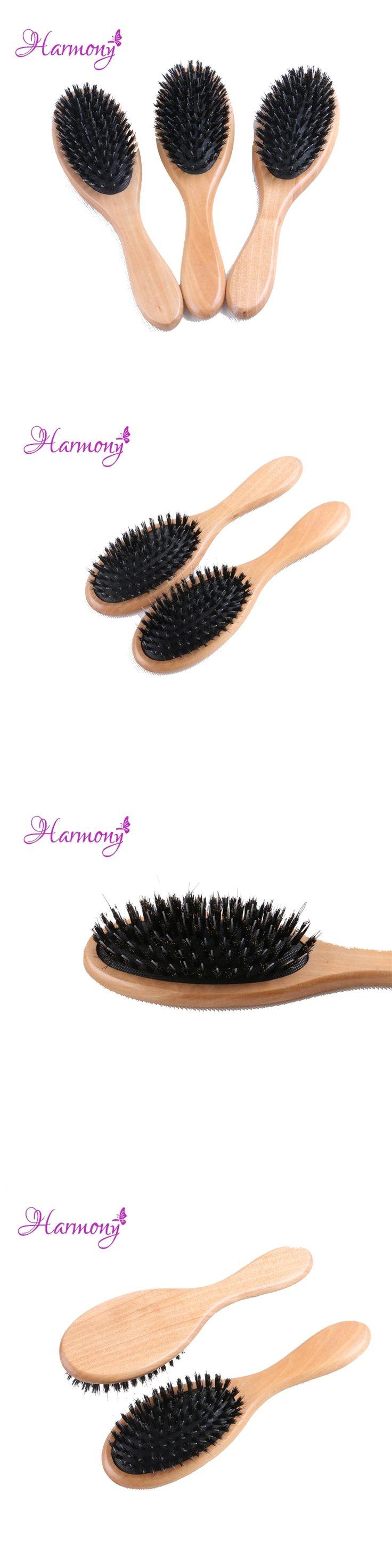 1pcs Harmony Plus Free shipping Varnish Boar Bristle Hair Brush, Hair Extensions Brush for Salon Use, Boar Bristle with Nylon