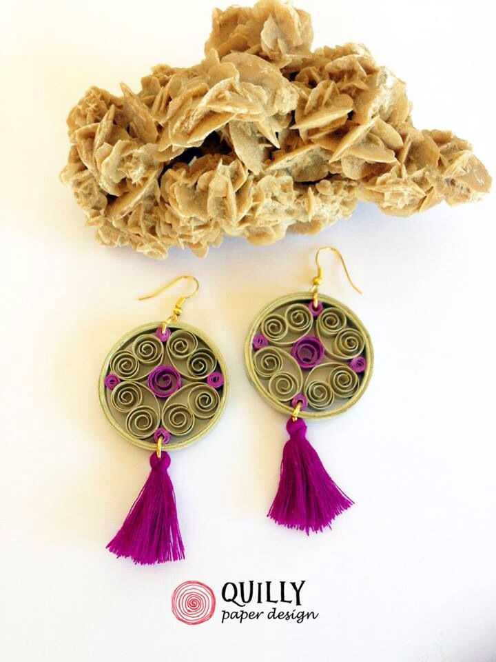 """Paper Earrings """"arabesco_11"""" by quillypaperdesign"""
