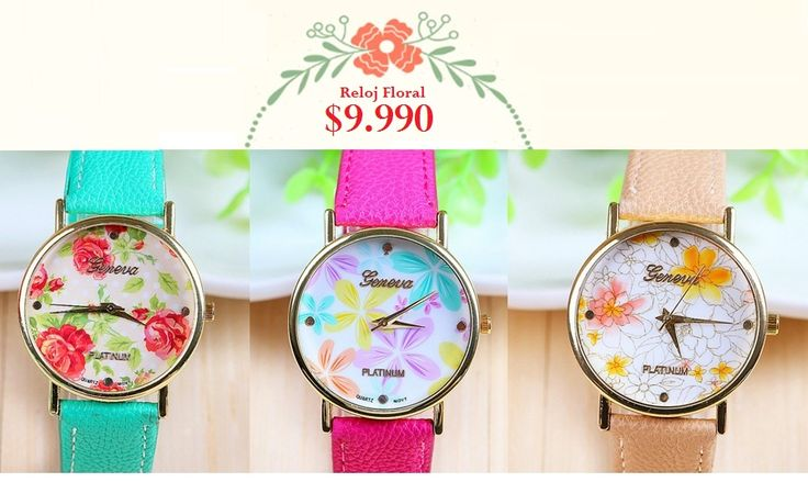 Reloj Floral 2. Tienda MyFavorite_4d / only beautiful things www.facebook.com/myfavorite4d