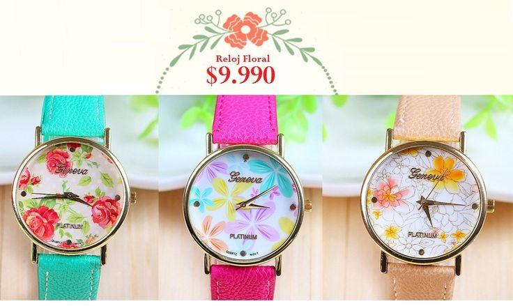 Reloj Floral 2. Tienda MyFavorite_4d / only beautiful things www.facebook.com/myfavorite4d