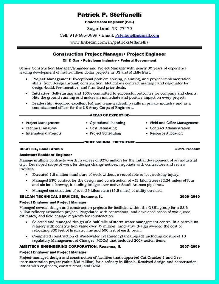 awesome Simple Construction Superintendent Resume Example to Get Applied,