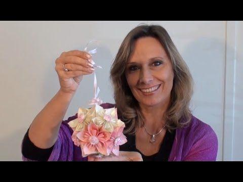 Ideen mit Herz - Blütenkugel - Fleurogami - YouTube