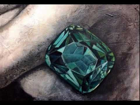 """the emerald from within us"", painting by Angel.Kourkoulou (2017)"