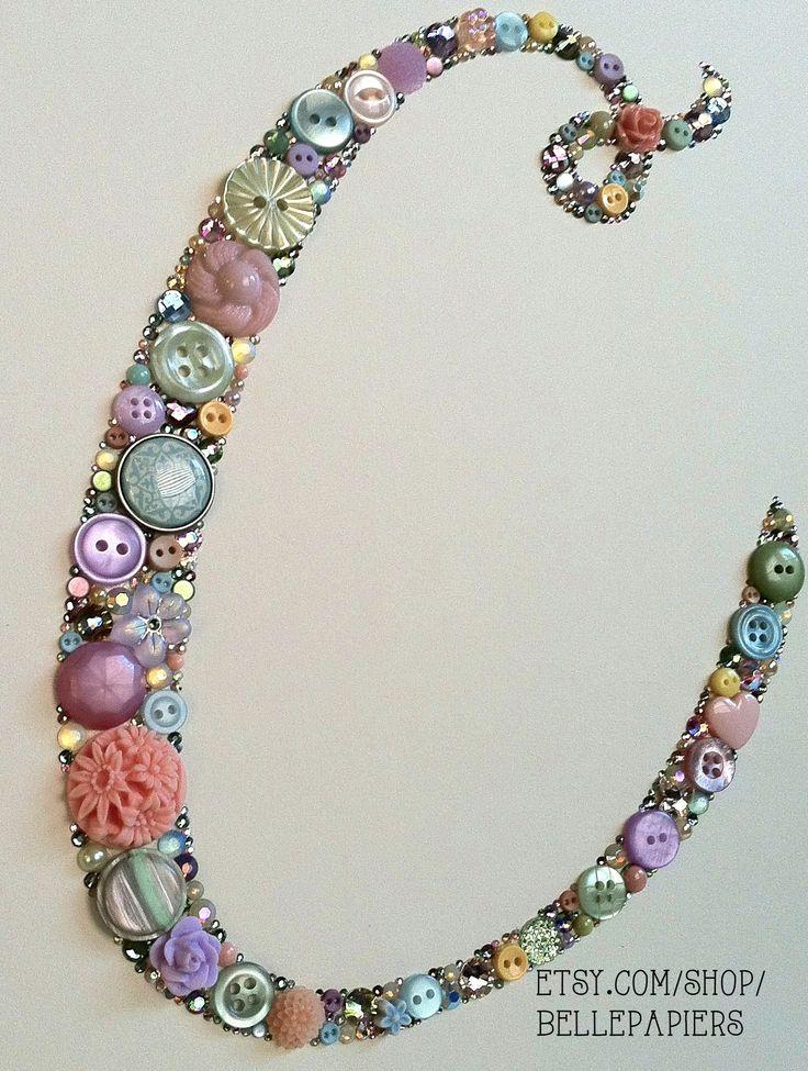 Button Art made with Swarovski Rhinestones and buttons! #buttonart #buttonart #buttons #swarovski #handmade #crafts #diy #art #babyshower #baby #babygift #wedding #weddinggift