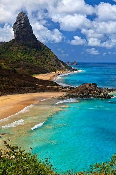 Fernando de Noronha, off the north-east coast of Brazil. #beach: Fashion Sets, Beaches Vacations Places, Beaches Brazil, Buckets Lists, Fashion Ideas, Fernando De Noronha, Fun Things, Fashion Looks, Brazil Travel