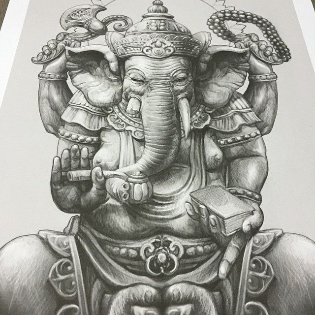 "3,120 Likes, 73 Comments - Elvin Yong (@elvintattoo) on Instagram: ""Ganesha drawing for my client"""