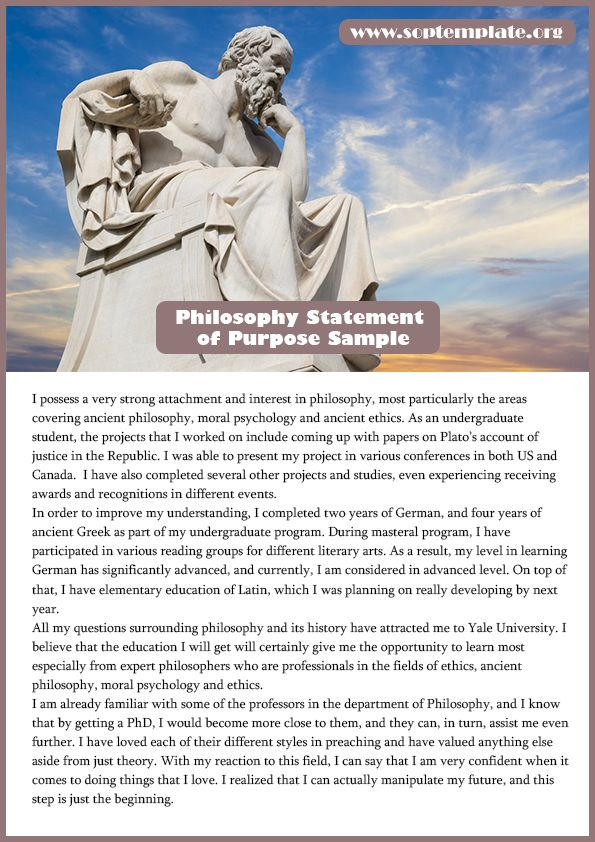 Easily Get Best Philosophy Statement Of Purpose Sample  Sop