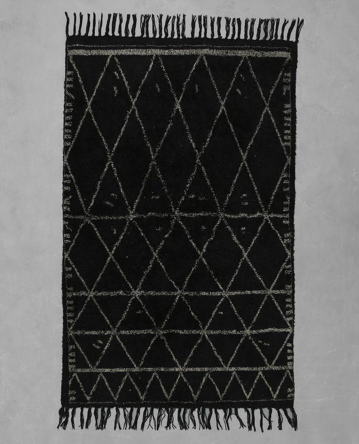 Weicher Berberteppich Schwarz