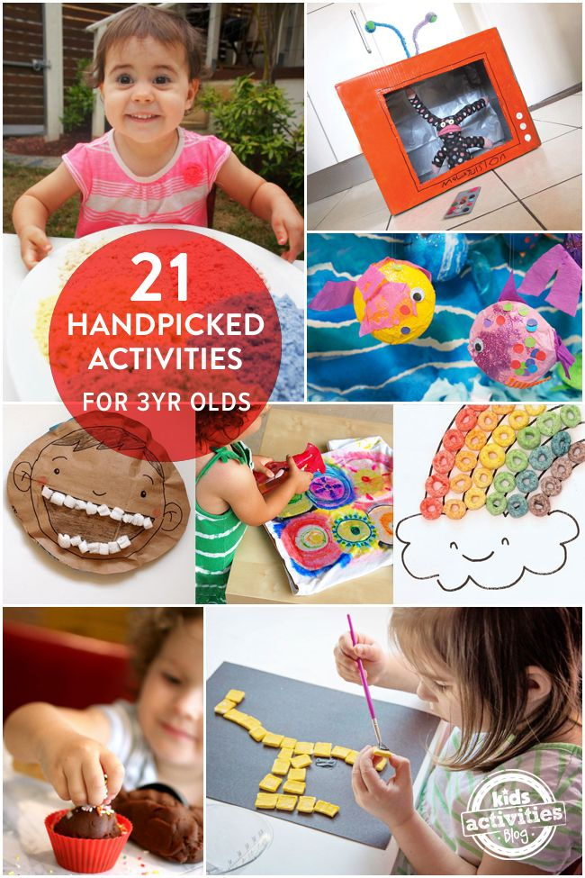 21 handpicked activities for 3 year olds, from easy art projects to pretend play   MollyMooCrafts.com for #kidsactivitiesblog @Holly Homer