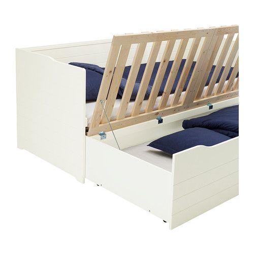 BYGLAND Sohvasängyn runko IKEA Neljä toimintoa samassa kalusteessa: istuin, yhden ja kahden hengen vuode ja reilusti säilytystilaa.