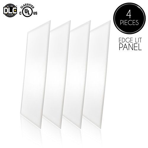 Parmida (4-Pack) LED Panel Light, 2x4, 50W (110W Replacement), 5500lm, 5000K (Day Light), Dimmable LED Troffer, Ultra Thin Edge-lit Flat Panel, UL & DLC Certified #Parmida #Pack) #Panel #Light, #Replacement), #(Day #Light), #Dimmable #Troffer, #Ultra #Thin #Edge #Flat #Panel, #Certified