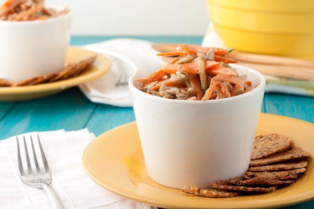 Moroccan carrot and raisin slaw | Healthful PursuitMoroccan Carrots, Vegan, Moroccan Dresses, Dinner Menu, Almond Butter, Health Pursuit, Moroccon Slaw, Carrots Slaw, Moroccon Carrots