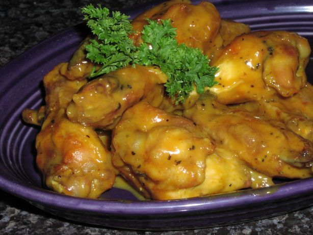 I was on a hunt for a recipe that was similar to one that we love from a restaurant called Oreganos in Arizona...I found this one on allrecipes ...its real close...I added an option (in step 5) this makes them more like the Italian Gold Wings that the restaurant serves...I posted another photo they are the ones on the purple plate...