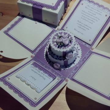 Kartki ślubne, pudełka, Wedding exploding box