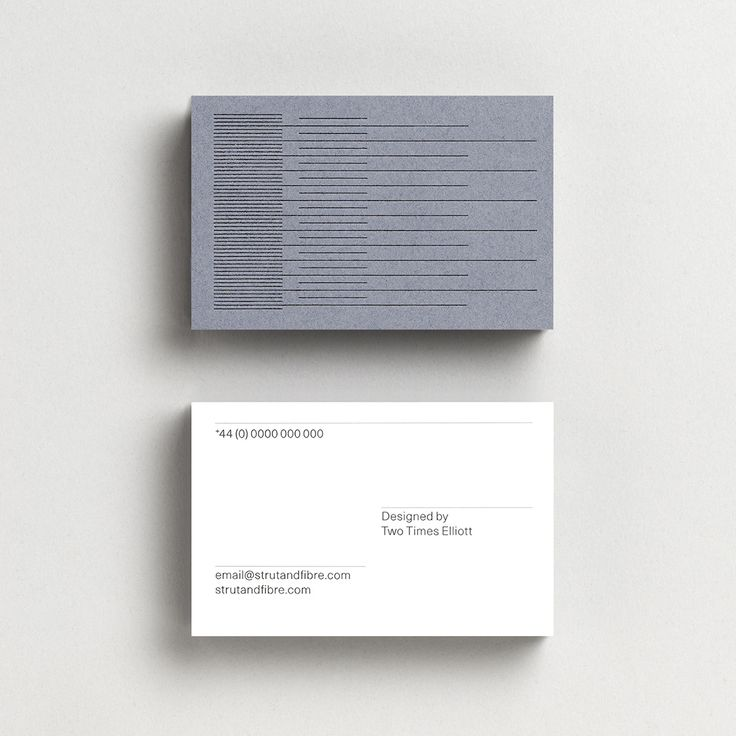 Business Card template designed by Two Times Elliott for Strut and Fibre's Ambassador Collection.