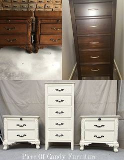 Night Stands, Painted Furniture, Dressers, Houston, Ivory, Vanities,  Bedside Tables, Dresser Drawers, Painting Furniture