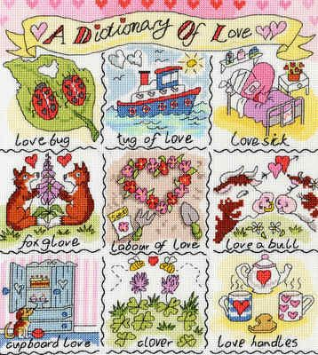 A Dictionary of Love - Bothy Threads cross stitch kit