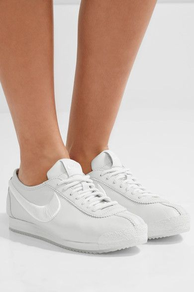 timeless design 15a9c c6423 ... Nike - Cortez 72 Si Embroidered Leather Sneakers - White ...