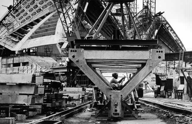 Sydney Opera House construction 1 - 1965