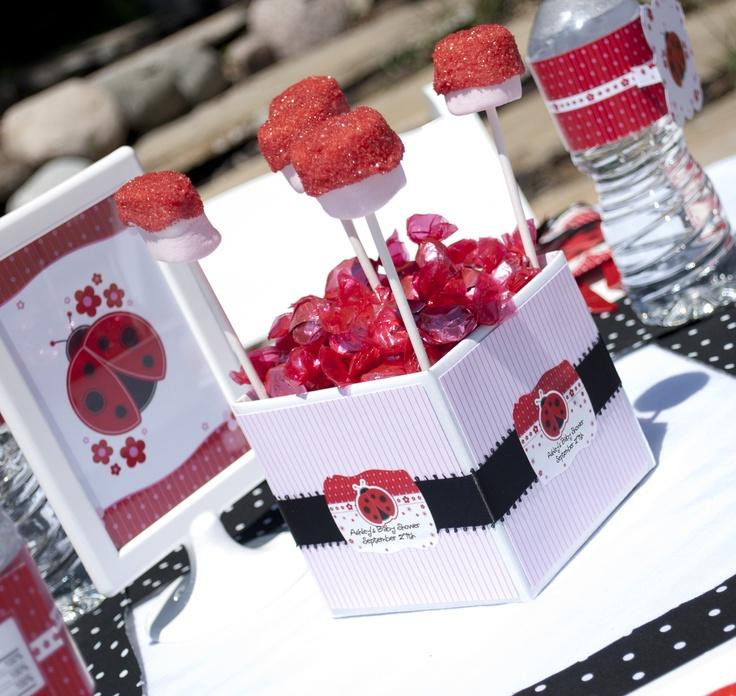Centerpiece Ideas: Party Theme #ladybug #birthdayparty #babyshower #Modern #Ladybug  Baby