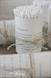 Brocante wattenstaafhouder...  Brocante, Vintage and Shabby Chic vind je op www.24Homeswebshop.nl