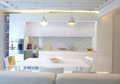 Am nagement salon design avec cuisine ouverte design cuisine et d coration - Idee amenagement sejour ...