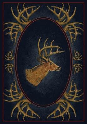 Buck Head Rug. #Antlers