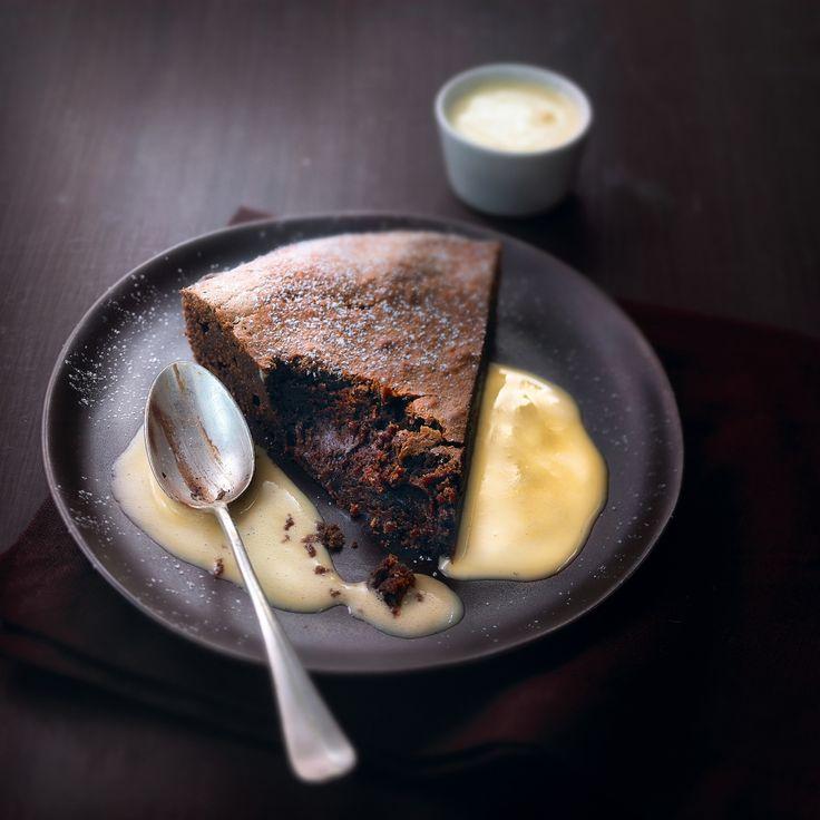 zachte taart met pure chocolade