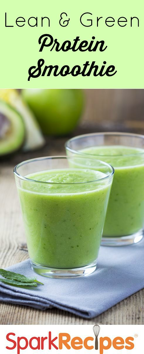 This lean, green, protein smoothie machine is just what you want for a healthy breakfast or pick-me-up snack!