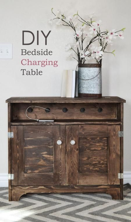 Bedside Charging Table or Nighstand.  Wow, this is great!  Now, if I can get 2 of these and the Farmhouse Bed built for my new bedroom, I'll be a pretty happy gal - if it happens this decade, so much the better!