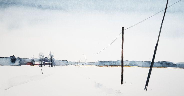 Akvarell, Elisabeth Biström 2018.