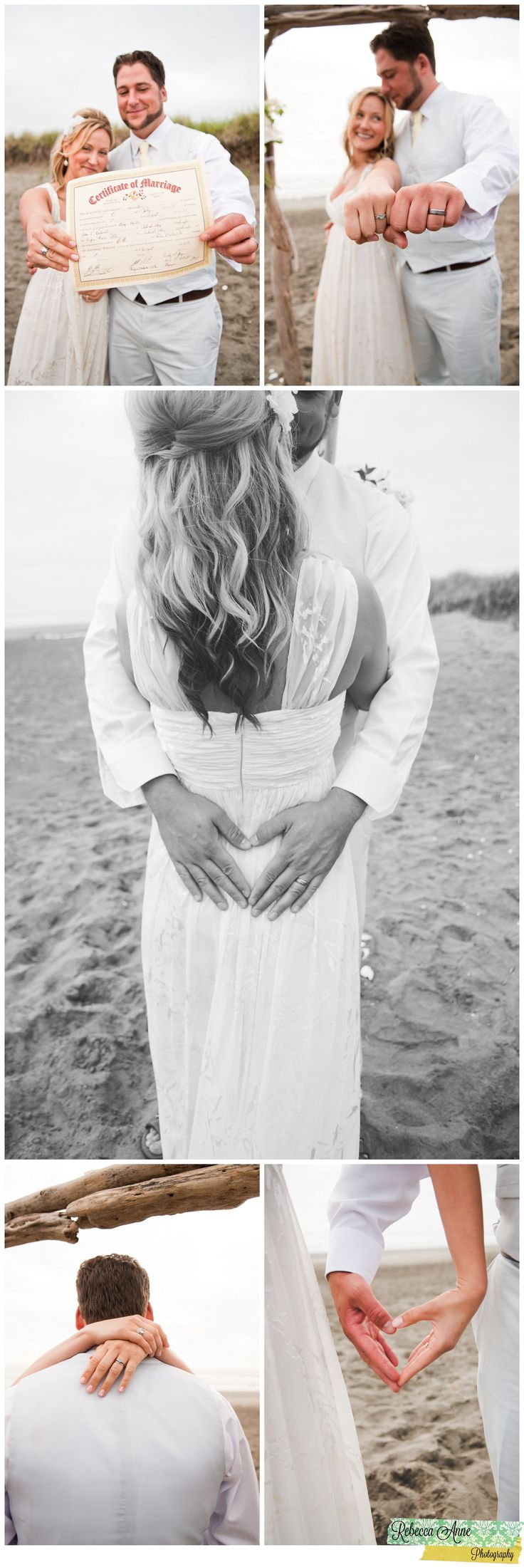 Bride & Groom | Wedding | Seattle, WA Photographer | Ocean Shores| Westhaven Beach Park | Rebecca Anne photography #Wedding #Pictures # Ring #Details #Beach #Beachwedding