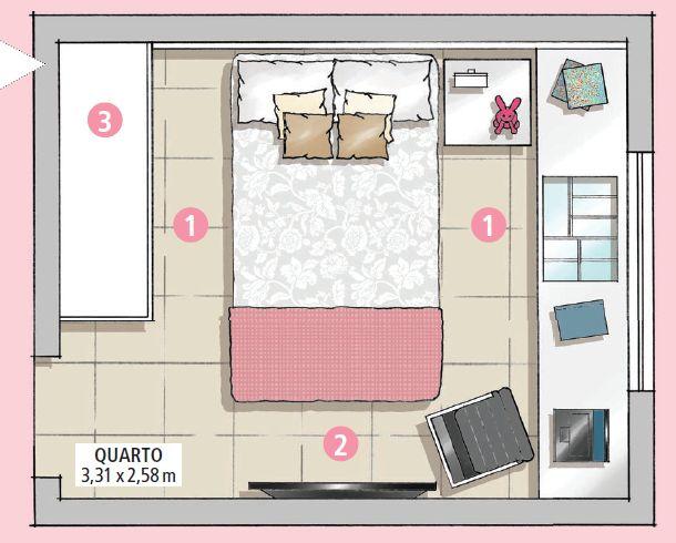 Um bom projeto deu conta de otimizar a área e de trazer soluções que transformaram o espaço limitado em um refúgio perfeito para descansar e estudar