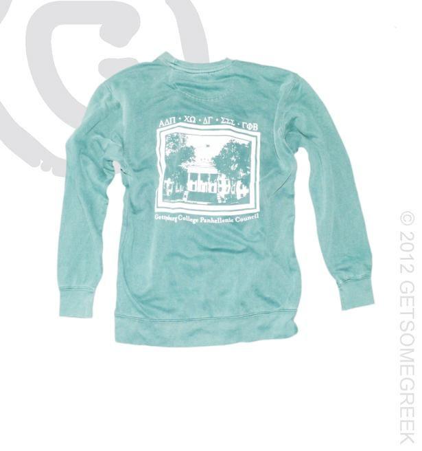 Panhellenic comfort colors sweatshirt go greek for Custom sorority t shirts