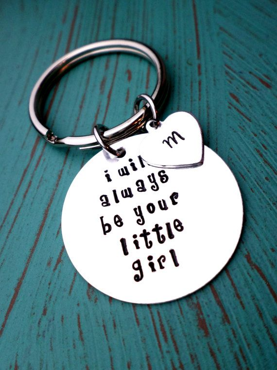 Father's Keychain Daughter Gift  1 Dad by HandmadeLoveStories, $23.00