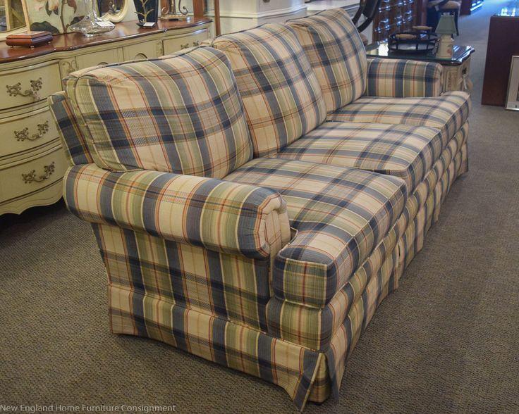 plaid sofas | Blue & Sage Plaid Sofa | New England Home Furniture ...