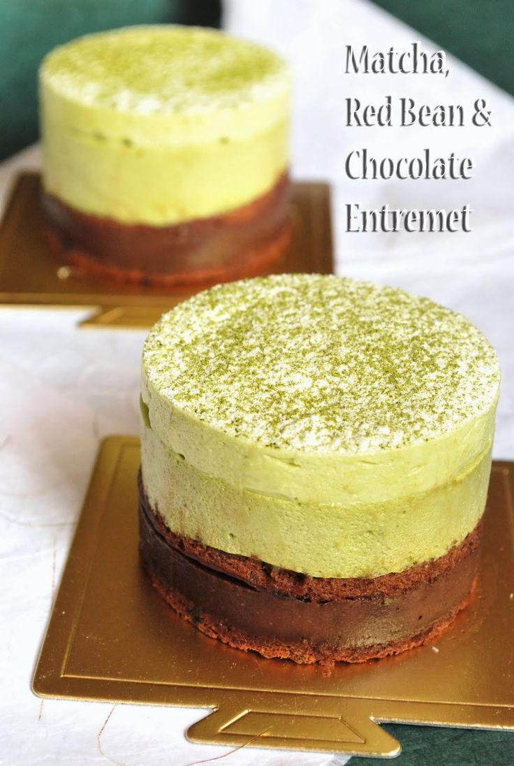 Sweets and Loves: Matcha, Red Bean and Chocolate Entremet - Celebrating My Very 1st Blogversary