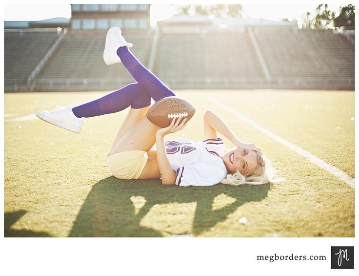 seniors, meg borders, love the pose, personalized portrait session, football