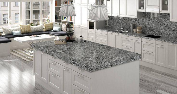 Cocina con encimera granito naturamia lennon encimeras for Encimera cocina granito