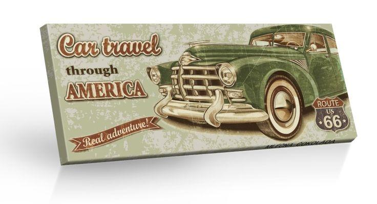 Retro Choco Cars Route 66 - mléčná čokoláda 100g