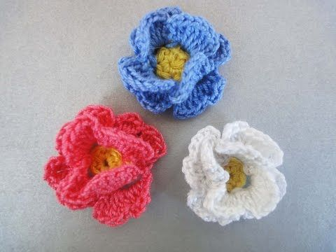 Маленький цветочек Little Flower Crochet - YouTube
