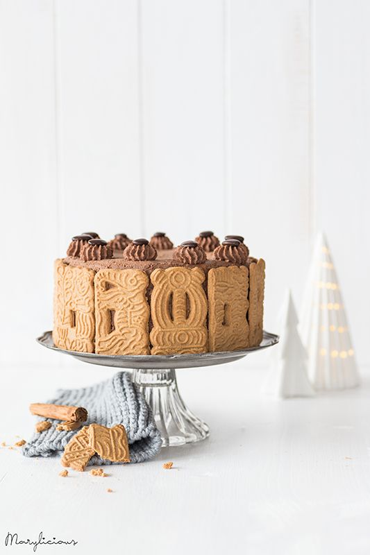 speculoos chocolate cake with pudding