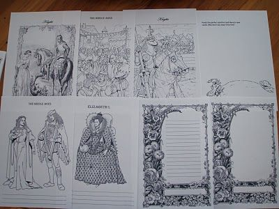 Middle Ages Notebook Pages  PDF file to save or print