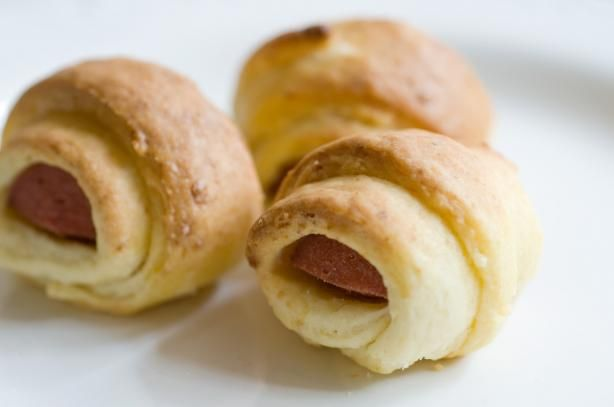 "Pigs in a Blanket: ""Great tasting dough, great consistency and pretty easy to do. I am horrible at baking but this actually worked out, so if I can do it, anyone can! I used a package of 7 Hebrew National Hot Dogs and cut each into thirds."" -Mandi T"
