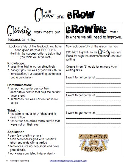 Glow and Grow narrative writing plan and rubric ideas FREEBIE. Really good, check it out!