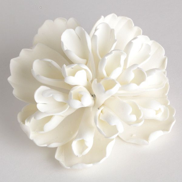 347 best toppers images on pinterest cold porcelain sugar and heirloom peonies white fondant flowerscake mightylinksfo