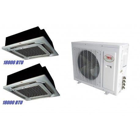 YMGI 36000 BTU 18000 EC+18000 EC DUAL ZONE DUCTLESS MINI SPLIT AIR CONDITIONER Heat Pump