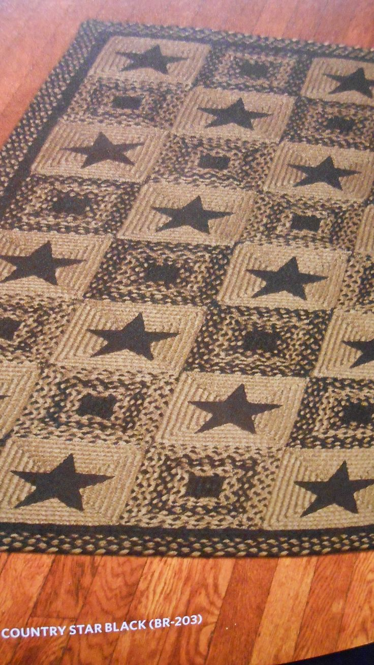 Country Star Black Braided Rug Can Be Purchased And Shipped From The Old Mercantile In Clarksville